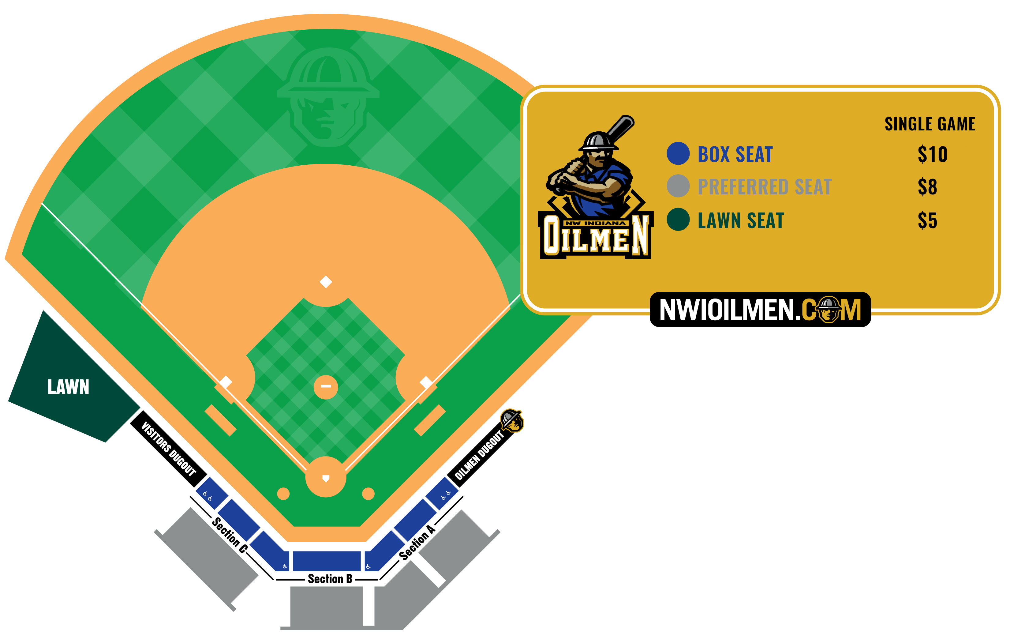 The Official Website Of The Nwi Oilmen Seating Chart