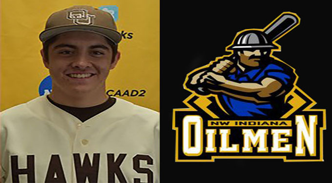 Carter Naughton signs to play for the Northwest Indiana Oilmen