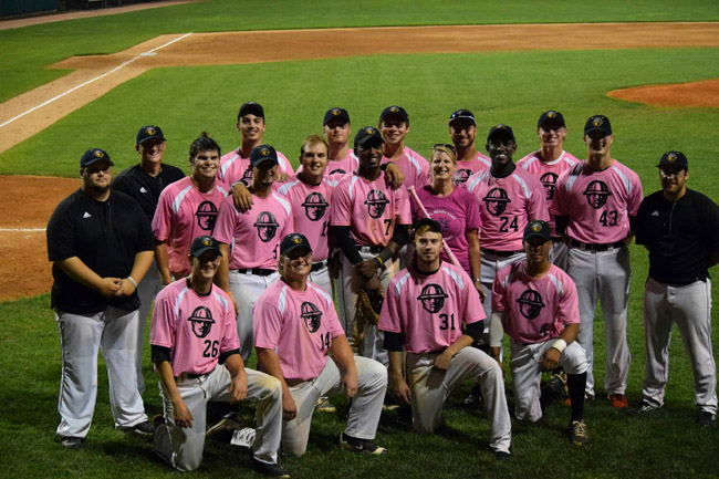 Oilmen down Lakers behind eight-run inning on Paint the Game Pink Night